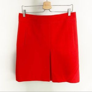 Loft Red Pencil Skirt with Pockets